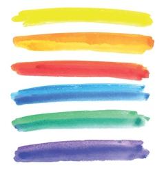 Watercolor multicolored stripes vector image vector image