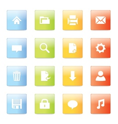 Web icons 5 vector image