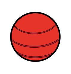 Ball sport red flat vector
