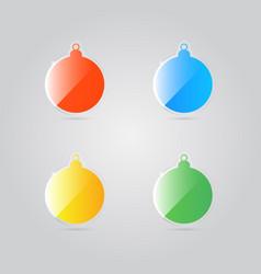 glass shiny colorful christmas balls vector image vector image
