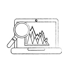 graph chart icon image vector image vector image