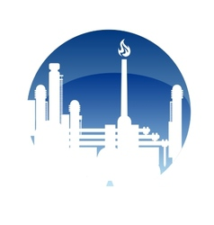 Industry and fuel refinery icon vector image