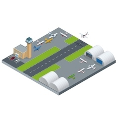 Isometric Airport building Airport building with vector image