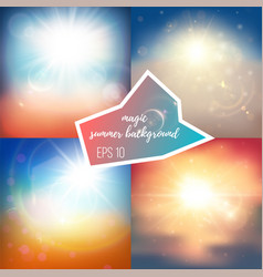 light summer backgrounds vector image vector image