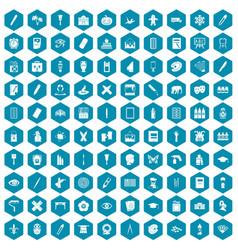 100 paint school icons sapphirine violet vector image