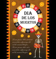 Day of the dead flyer poster invitation dia de vector