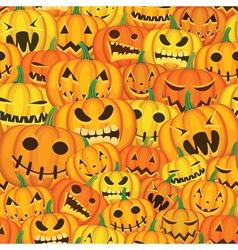 pumpkins seamless background vector image vector image