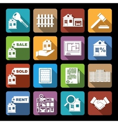 Real estate icons flat vector image vector image