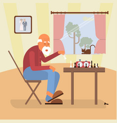 retired age alone man vector image vector image