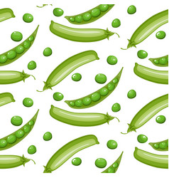 seamless pattern with green peas vector image