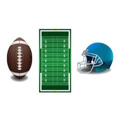 American Football Field Ball Helmet vector image vector image