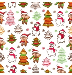 christmas pattern 1 vector image