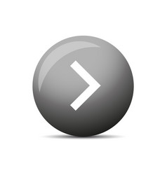 play button round vector image