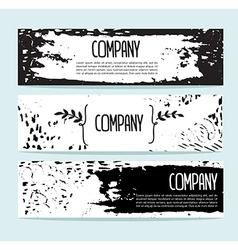 Set of three banners Abstract header background vector image