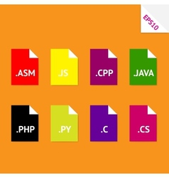 Source code file formats vector image