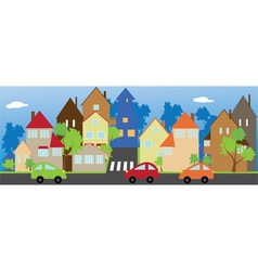 The street of a small town vector image