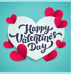 valentine s day greeting card 14th of february vector image