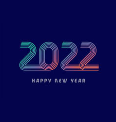 2022 colored lines vector