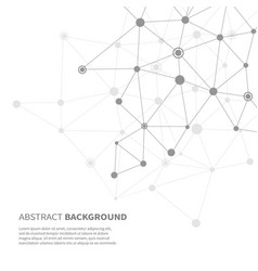 Abstract background with net and dots vector