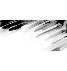 abstract black watercolor brush stroke vector image