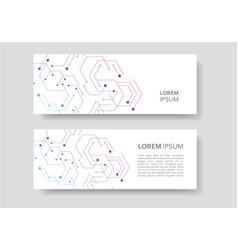 Banner design in geometrical hexagon figures vector