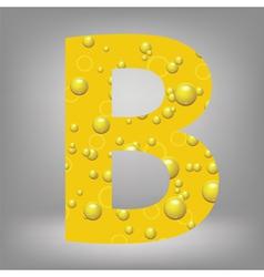Beer letter B vector