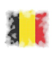 Belgium flag halftone vector