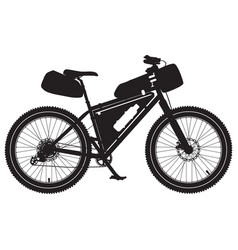 bikepacking bike black vector image