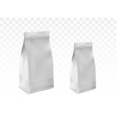 blank white sealed plastic bags realistic vector image