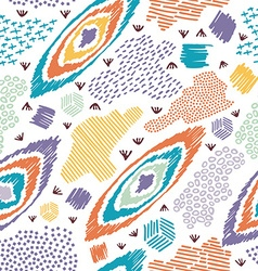 Boho seamless pattern vintage colorful background vector image