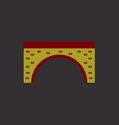 Brick bridge arch architecture building monument vector