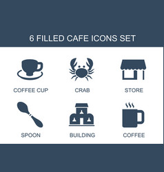 Cafe icons vector