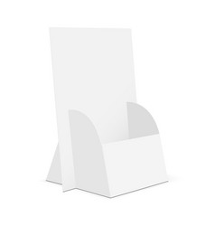 Cardboard brochure display stand vector