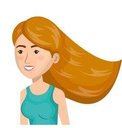 Cartoon girl sport icon vector