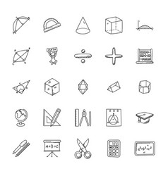 Collection of mathematics doodles vector
