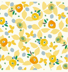 cream pattern with butterfy colorful dots vector image