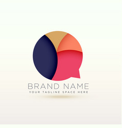 Creative chat logo symbol concept design vector