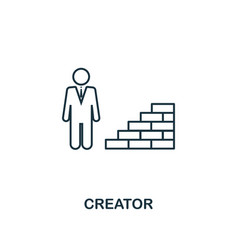 creator outline icon thin line element from vector image