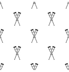 Crutches icon black single medicine icon from the vector