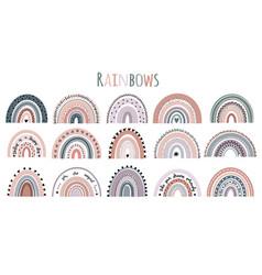 Cute rainbows ba vector