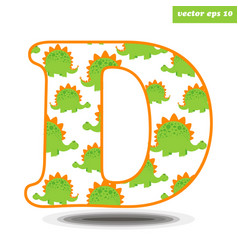 d with dinosaur pattern vector image