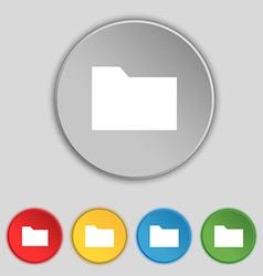 Document folder icon sign Symbol on five flat vector