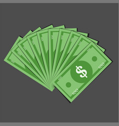 dollar fan flat icon vector image