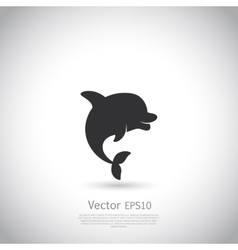 Dolphin icon or logo Black vector image vector image