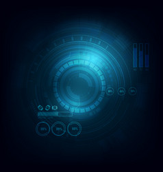 electronic circle telecoms technology background vector image