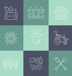 Farming Line Collection vector image