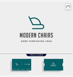 Furniture logo design icon icon isolated vector