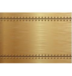 Golden metal vector