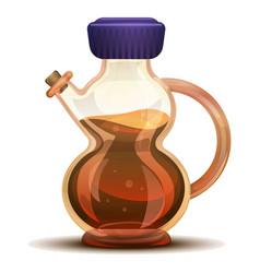 Grapes vinegar icon cartoon style vector
