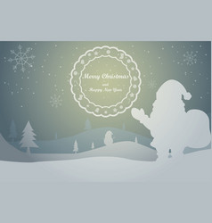 Greeting card christmas card vector